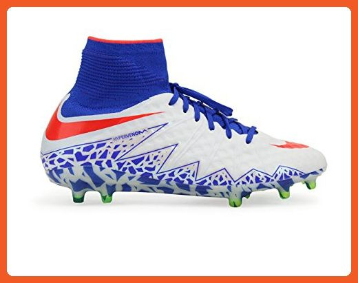 a2f5b3354edf spain nike womens hypervenom phantom ii fg white bright crimson racer blue  soccer shoes 5.5a