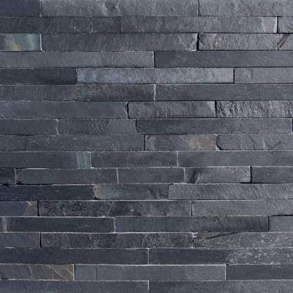 Black slate split face mosaic tiles medium shuzhou bricks 425x425