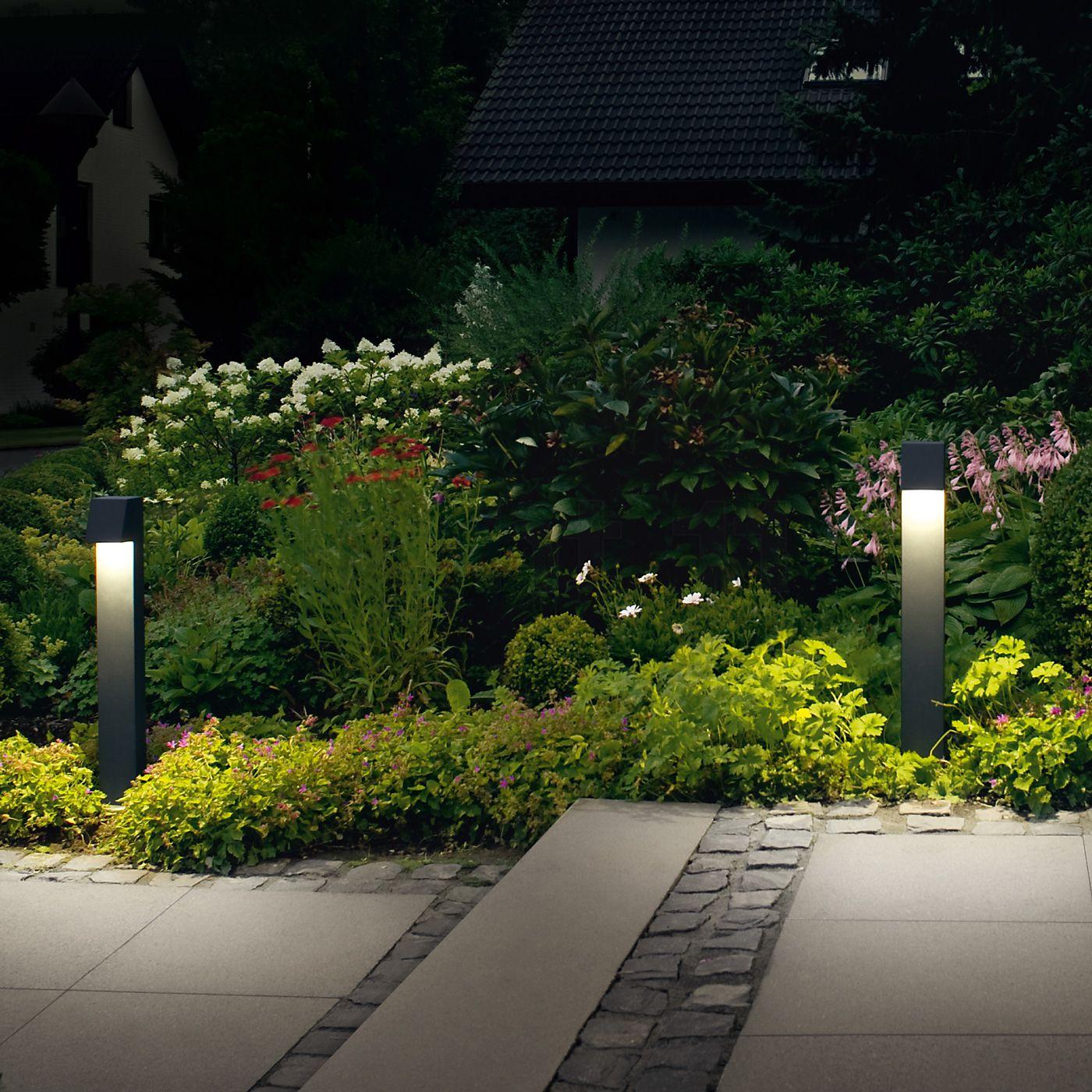 40 Different Garden Pathway Ideas: Bega 77237/77238 - Pollerleuchte LED