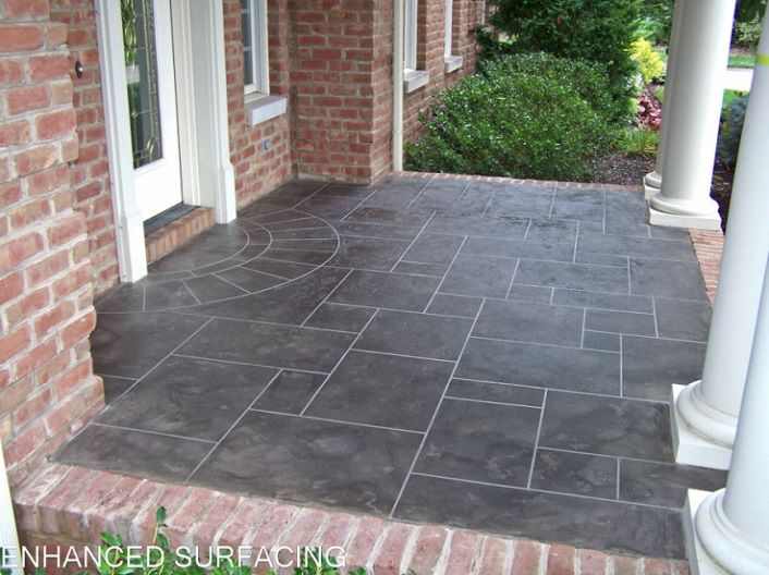 Slate Porch Marion Oh Decorative Concrete Ohio