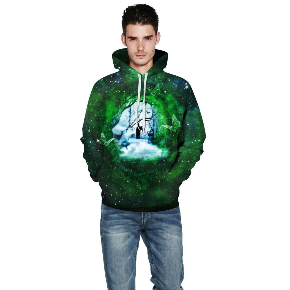 9b092cac8ef89b 2017 Winter New Men Hoodies Sweatshirts 3D Grim Reaper Green Pattern Mens  Clothes Loose Long Sleeve Hip Hop Clothing S -XXL  Affiliate