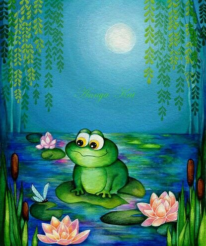 Pin Von Johanna Kalliola Auf Frogs Tiere Malen Frosch Malen Tiere