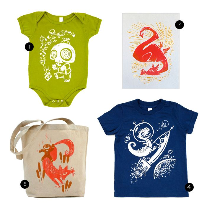Super Cute Kids and Baby Clothes from Crowsmack Etsy shop. (via dooce)