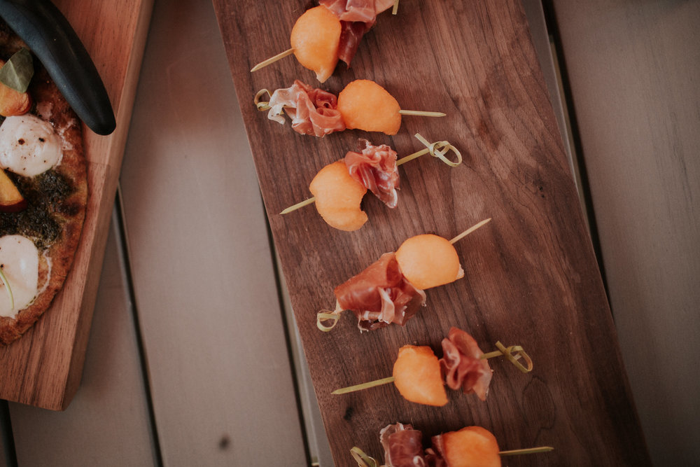 Prosciutto + Melon Skewers — Caramelized