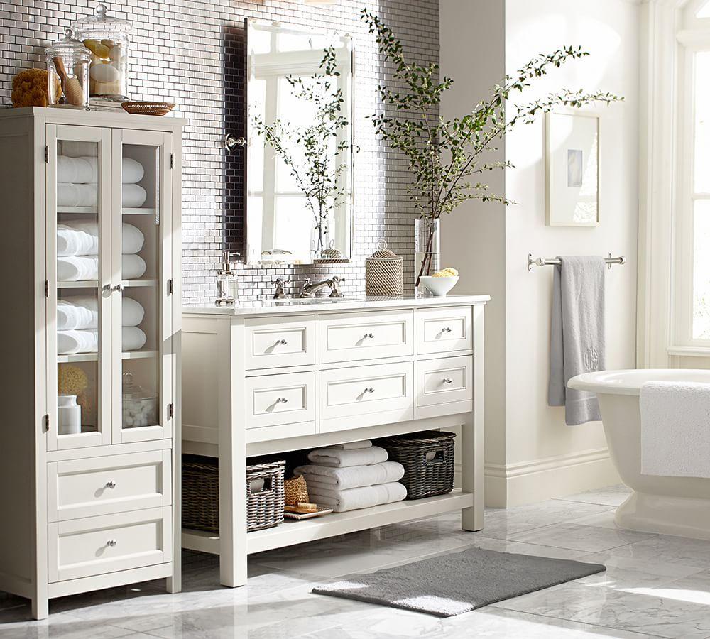 Kensington Pivot Mirror In 2020 Pottery Barn Bathroom
