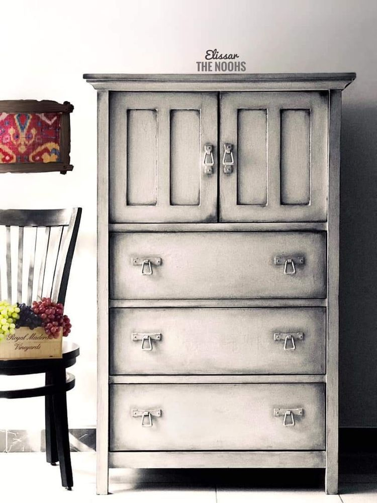 Chalk Paint Tall Dresser Chest