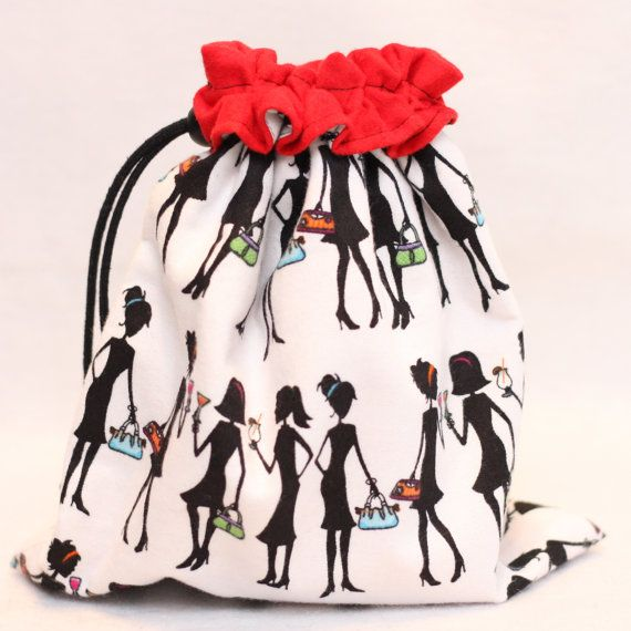 Project Bag Girls Night Out Red Black and White by GRABSTUFF, $16.00