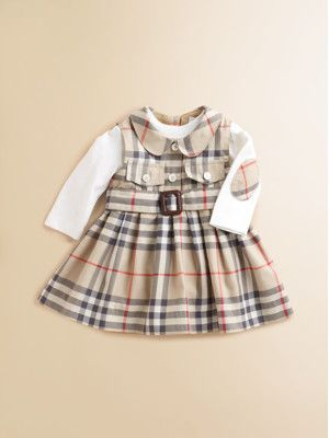 burberry baby outlet online i73o  Burberry Infant's Cashmere-Blend Check Coverall @Amber Huizar