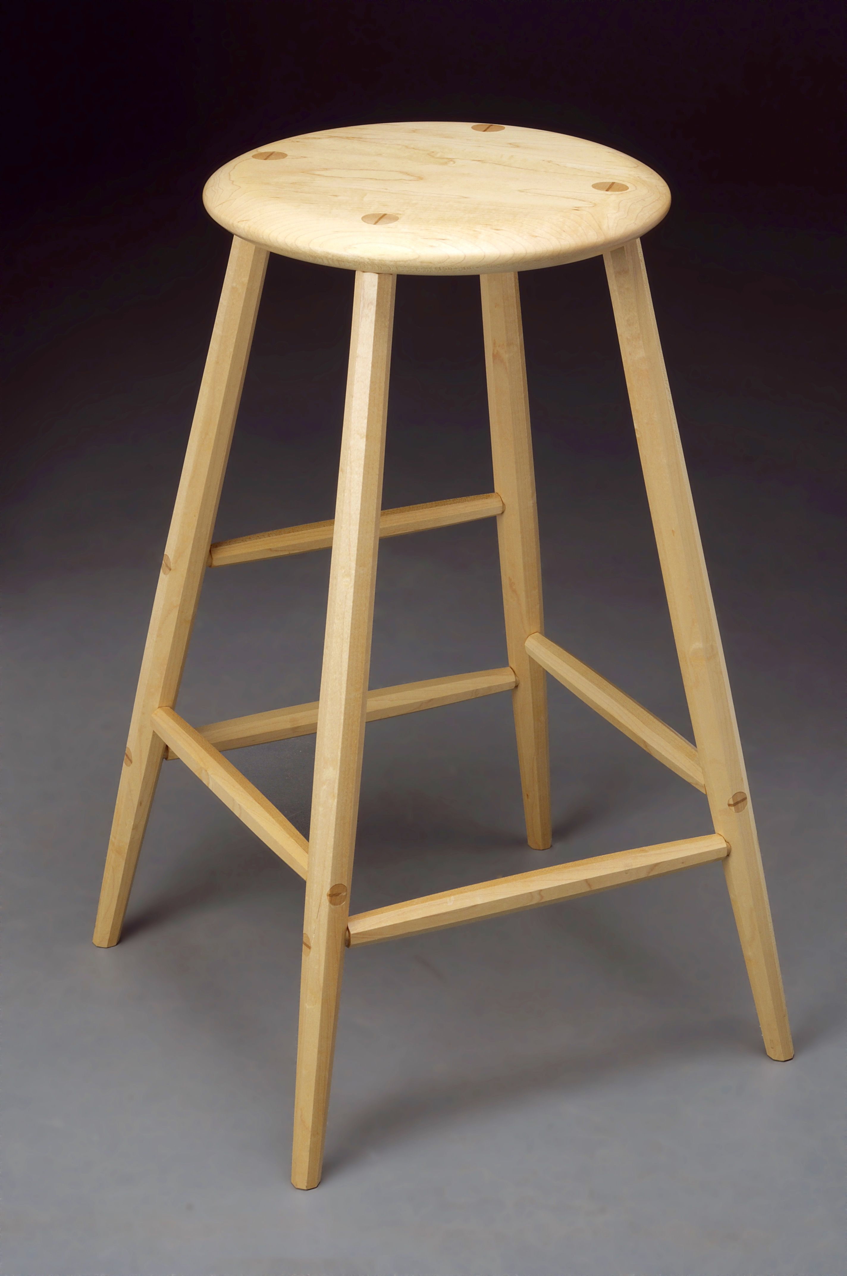 Enjoyable Four Legged Stool All Sugar Maple With Faceted Legs In 2019 Ibusinesslaw Wood Chair Design Ideas Ibusinesslaworg