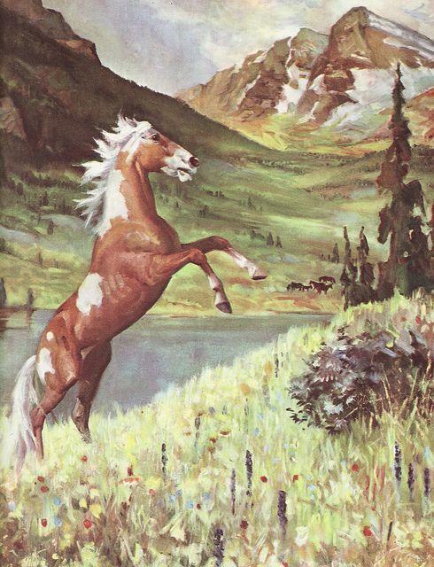 Wild Mustang Horse Wall Art Horse Art Print Horse Art