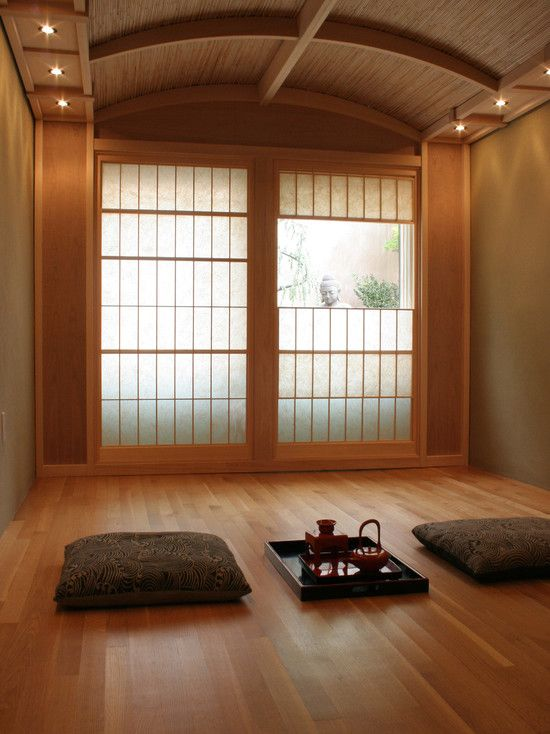 Yukimi shoji screens screens with a vertical viewing Zen room colors
