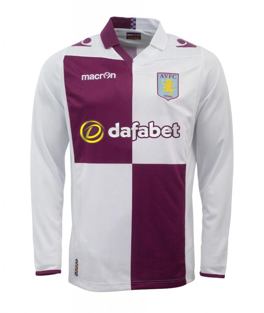 201314 aston villa away long sleeve football shirt