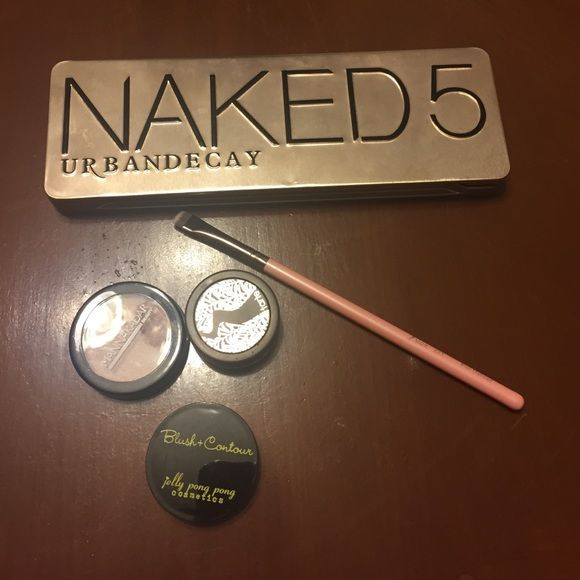 Urban Decay Naked Bundle Selling my barely used Urban Decay NAKED5 eyeshadow palette along with an assortment of other unused powders, and a Flat Definer Brush from Luxie 221. Would like to keep this as a bundle, always open to questions! Urban Decay Makeup Eyeshadow