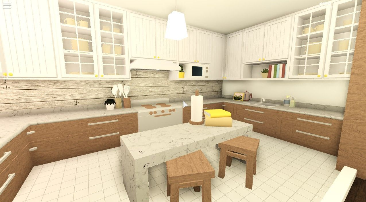 Pin By Liawazar On Bloxberg And Adopt Me House Ideas In 2020 Simple Kitchen Design Tiny House Layout Simple House Plans