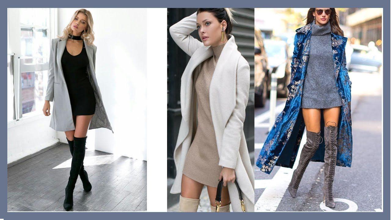 Abrigos con vestidos outfits oto o invierno 2017 2018 for Oficinas chicas