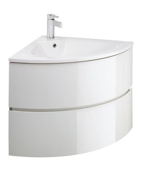 Bauhaus Svelte Corner Unit With Washbasin Corner vanity