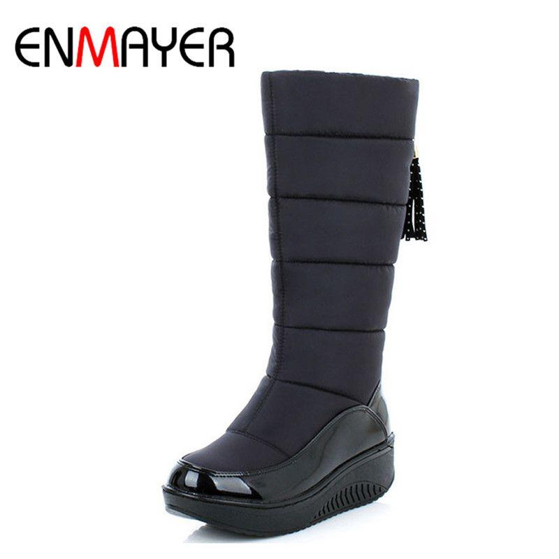 ENMAYER 2017New Arrive Winter Warm Snow Stiefel Fashion Fur Platform Fur Fashion ... f5a6a7