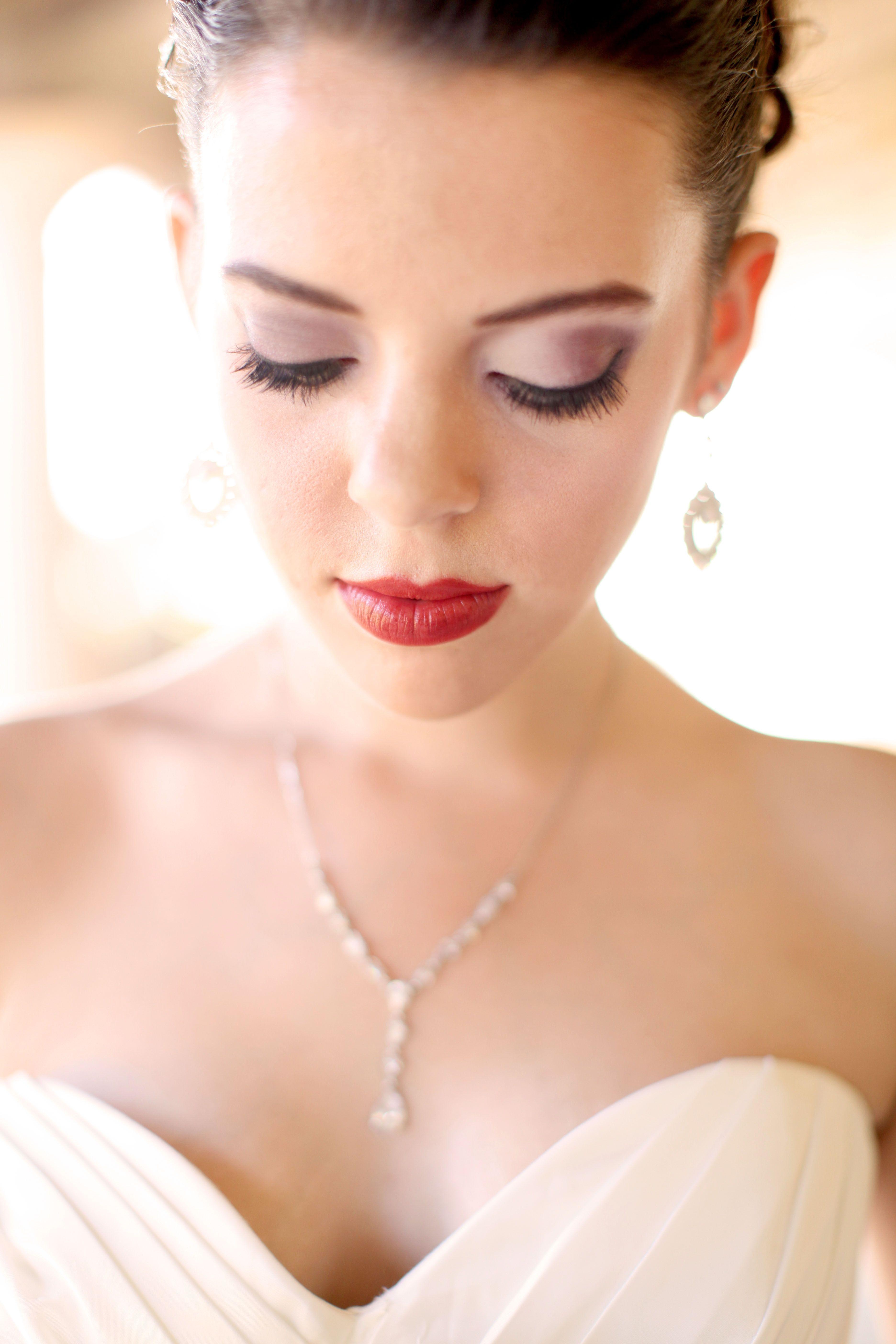 Bride Airbrush Makeup Wedding makeup, Purple wedding