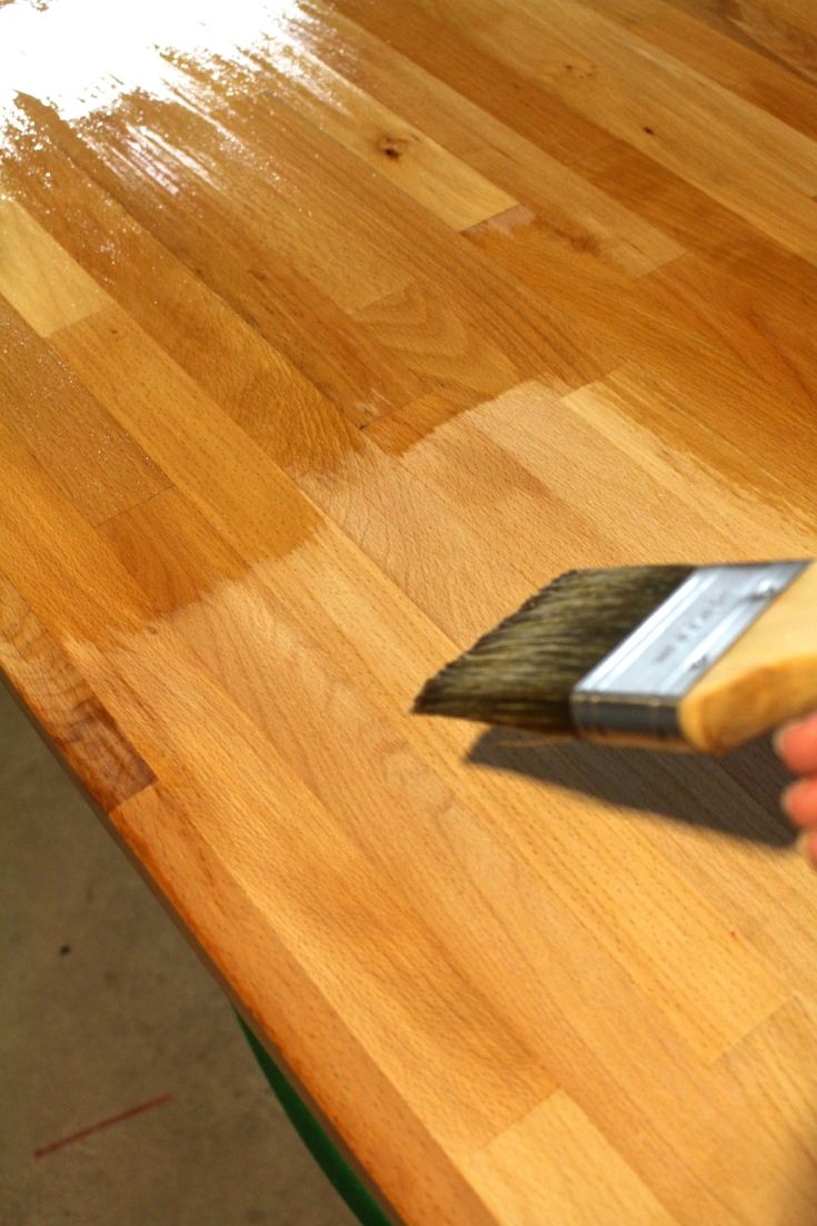 How to Finish Ikea Butcher Block Countertops (With images
