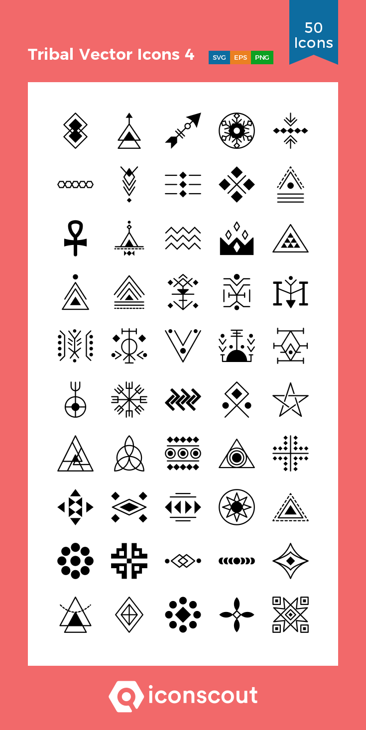 Download Tribal Vector Icons 4 Icon Pack Available In Svg Png Eps Ai Icon Fonts Icon Pack Vector Icons Tribal