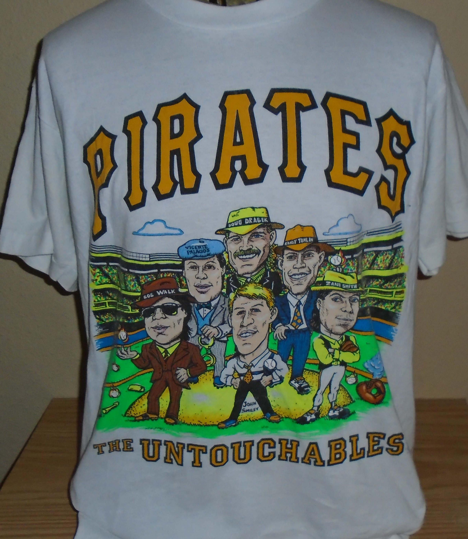 98252975020 vintage Pittsburgh Pirates cartoon baseball t shirt size XL by  vintagerhino247 on Etsy