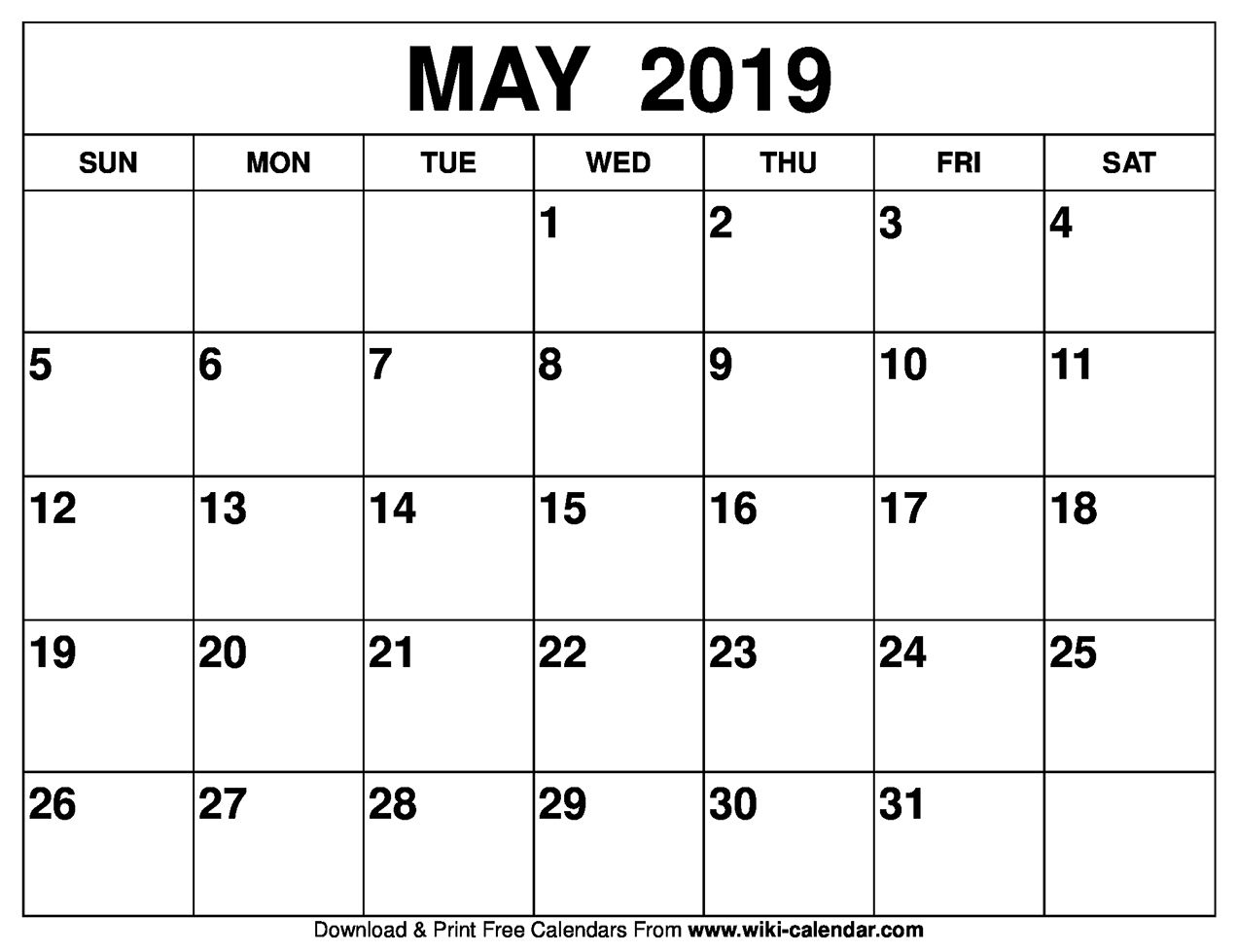 May 2019 Calendar Editable Calendar Printable Calendar July Calendar Template