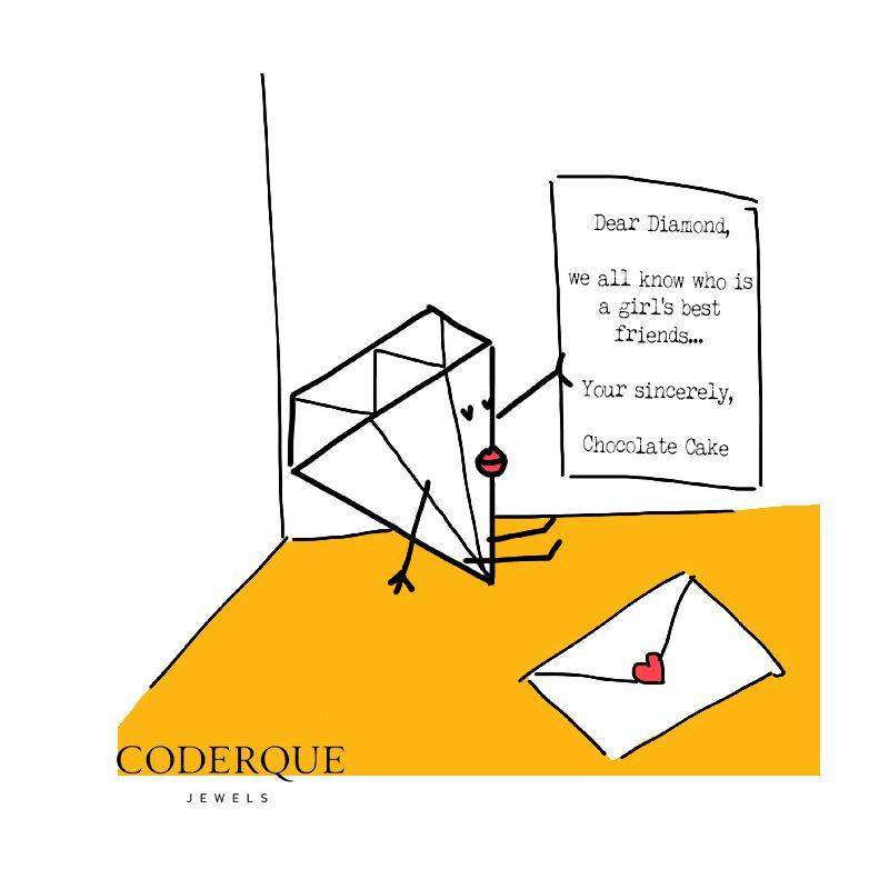 12.08.14 Chocolate cake letter #mondayswithasmile #misskarat @coderquejewels