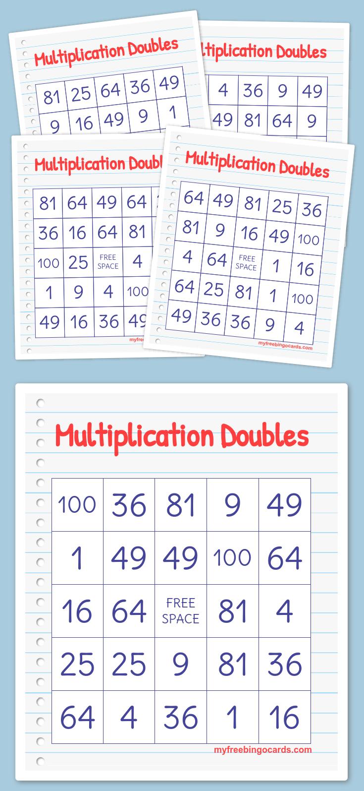 Multiplication Doubles Bingo Math Bingo Bingo Cards Printable Bingo Printable Free [ 1595 x 735 Pixel ]