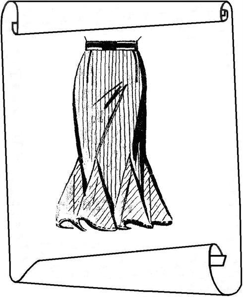 Юбка с вставными клиньями