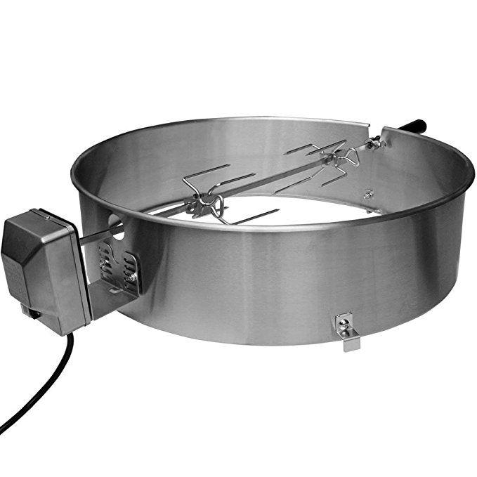 Onlyfire 22 1 2 Inch Stainless Steel Charcoal Kettle Rotisserie Ring Kit For Weber Char Broil Masterbuilt And Other Models Kettle Stainless Steel Char Broil