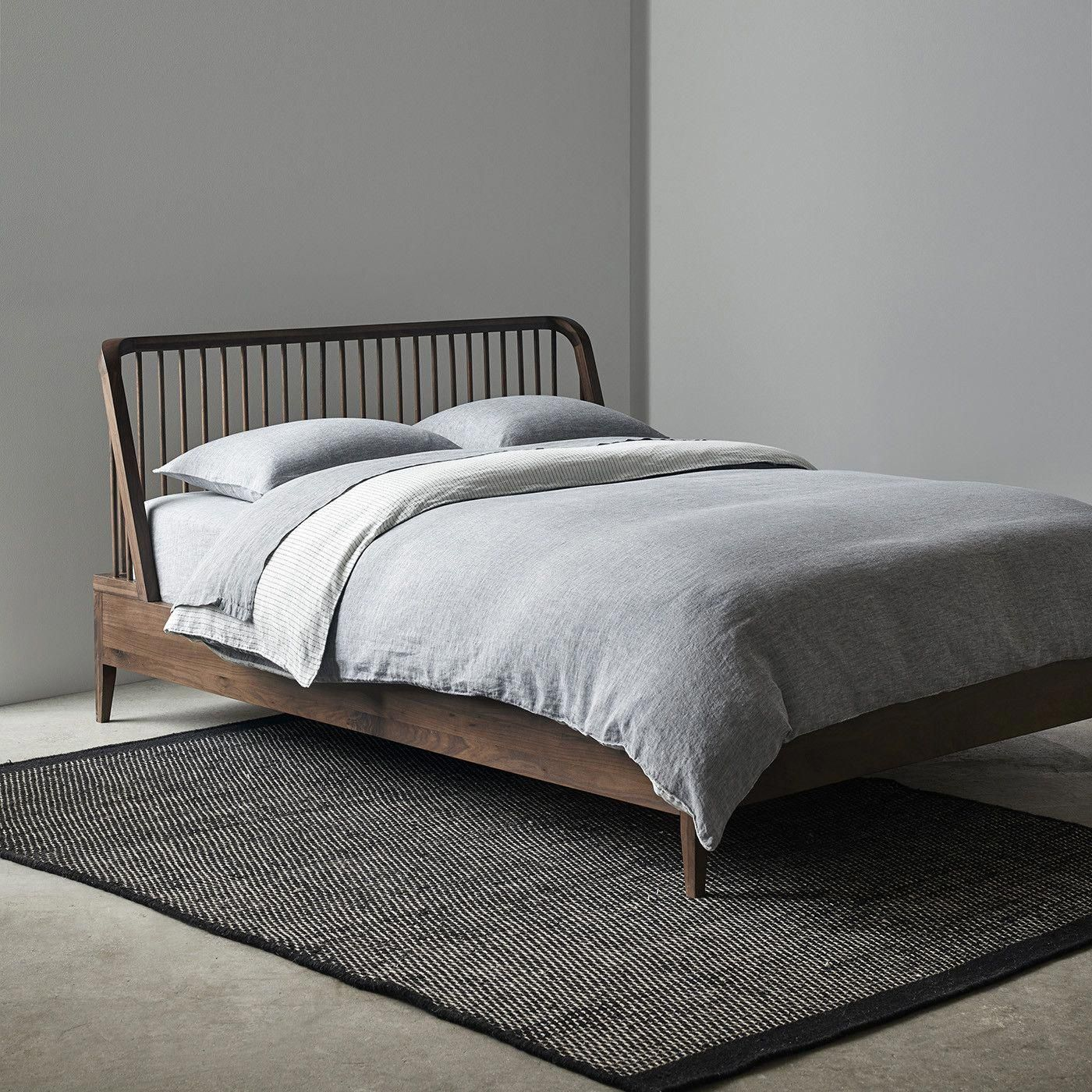 Spindle Walnut Bed Queen Unison beds Walnut bed