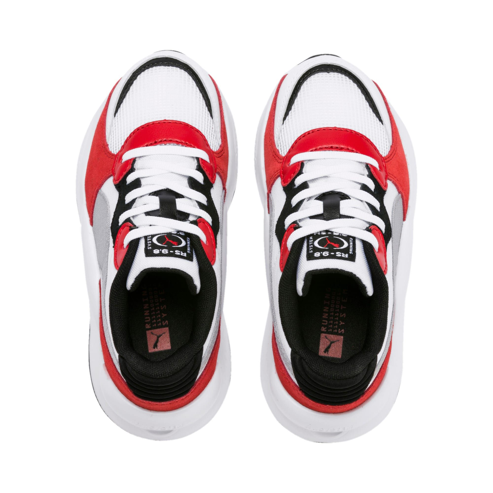 RS 9.8 Space Kids' Trainers | Puma White-High Risk Red | PUMA RS 9.8 Collection | PUMA United Kingdom #highsandals