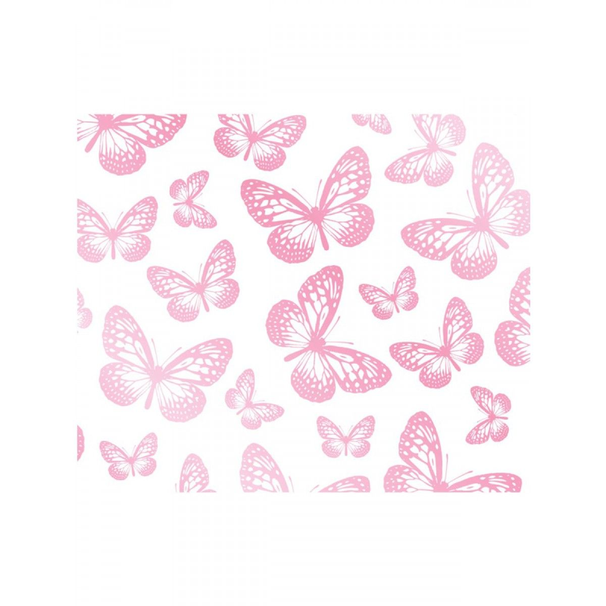 Butterfly White And Pink Wallpaper 10m Girls Wallpaper And