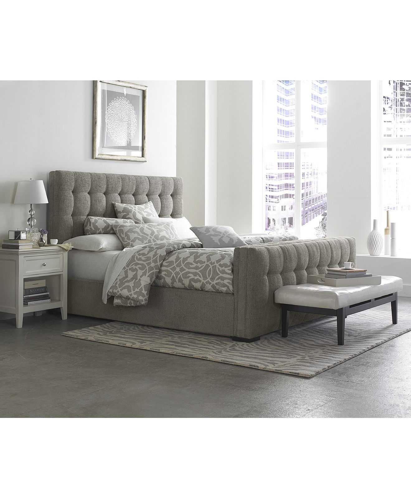Roslyn Bedroom Furniture Set In The Bedroom Grey Bedroom