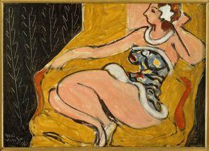 Danseuse assise 1942 oil on canvas 35 x 47 cm