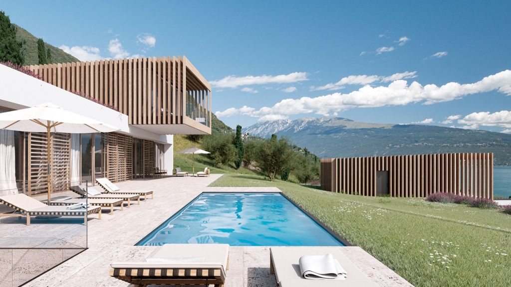 Luxus pool mit seeblick in der villa eden gardone am gardasee luxus villen like it - Moderne bder mit dachschrge ...