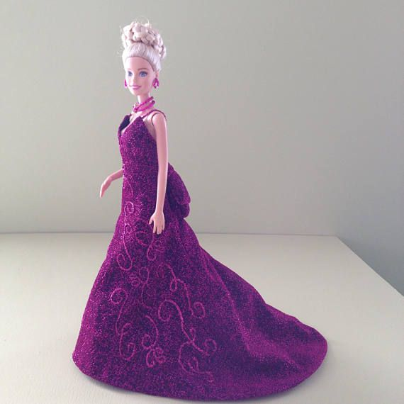 Barbie Evening Gown OOAK couture for collectors | miniature gowns ...
