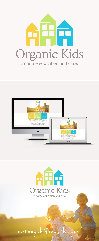 Organic Kids Logo Design Branding Web Design Www Themark Co Nz Preschool Logo Kids Logo Design Kindergarten Logo