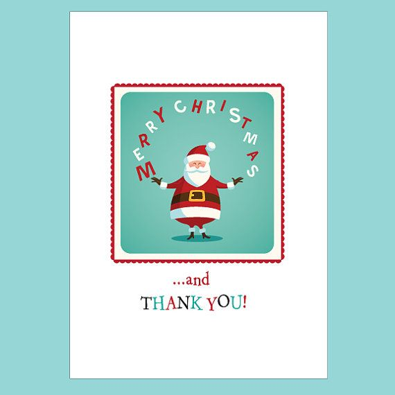 Christmas thank you note card set holiday by socialbutterflycards christmas thank you note card set holiday thank yous fun christmas cards santa thank you note card set christmas cards blank notes m4hsunfo