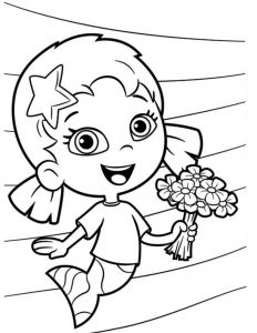 30 Stunning Mermaid Coloring Pages Bubble Guppies Coloring Pages