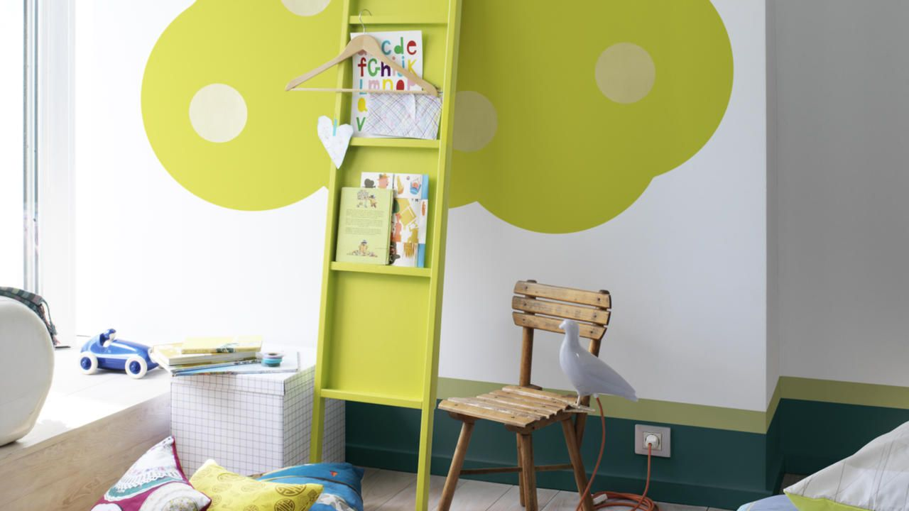Add impact to a kids\' room with lime green https://www.dulux.co.za ...