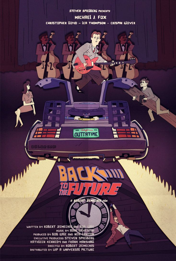 Back To The Future Fan Poster By Juhaszmark On Deviantart Con