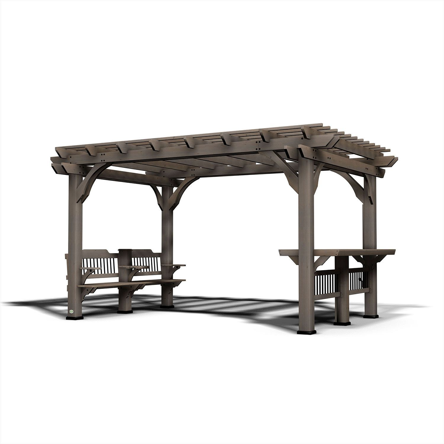 Backyard Discovery 14 X 10 Pergola With Electric