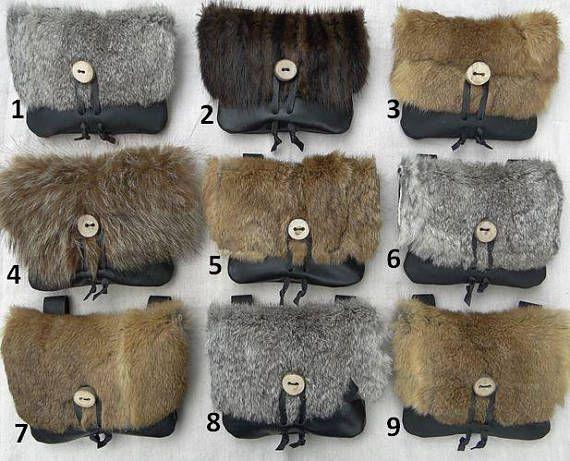 1 Viking Fur Pouch, Choisissez votre sac! Sac de ceinture en cuir, médiéval, Renaissance, Moyen – LE VIKING