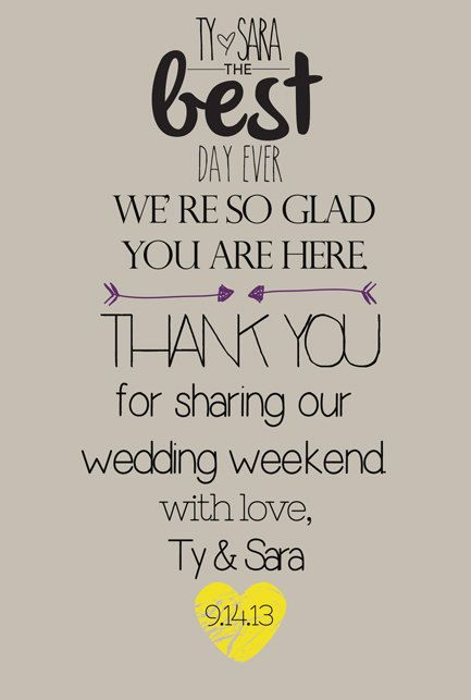 Wedding Welcome Tag Card  Weekend Basket  by TotallyLoveItDesigns, $10.00