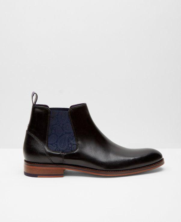 Zapatos negros casual Ted Baker para hombre fv3MPYg