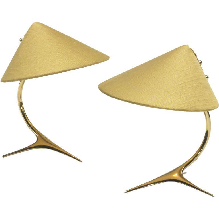 Pair table lamps by jt kalmar kalmar lights and mid century pair table lamps by jt kalmar austria c 1955 mozeypictures Gallery
