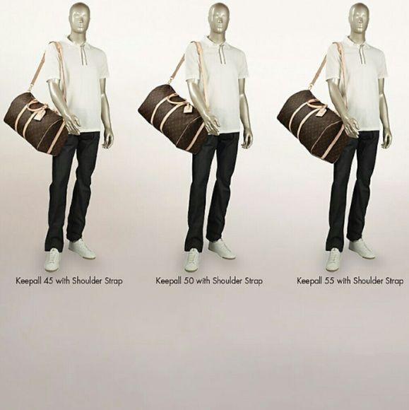 Louis Vuitton Keepall sizing chart Keepall 45, 50, 55 Louis Vuitton ...