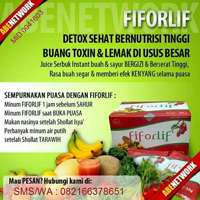 Fiforlif Juice Fiber Yg Berguna Untuk Detox Dan Diet Nutrisi Diet Buah Segar