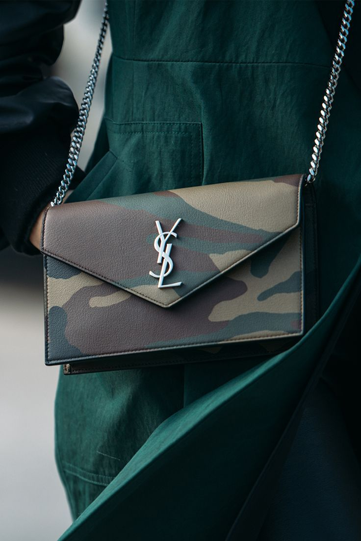 3bcd0a992e Camo chic with #SaintLaurent #SaksStyle #camoflauge #camoflaugepurse  #crossbody #saintlaurent